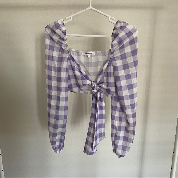 Forever 21 Tops - Purple gingham top